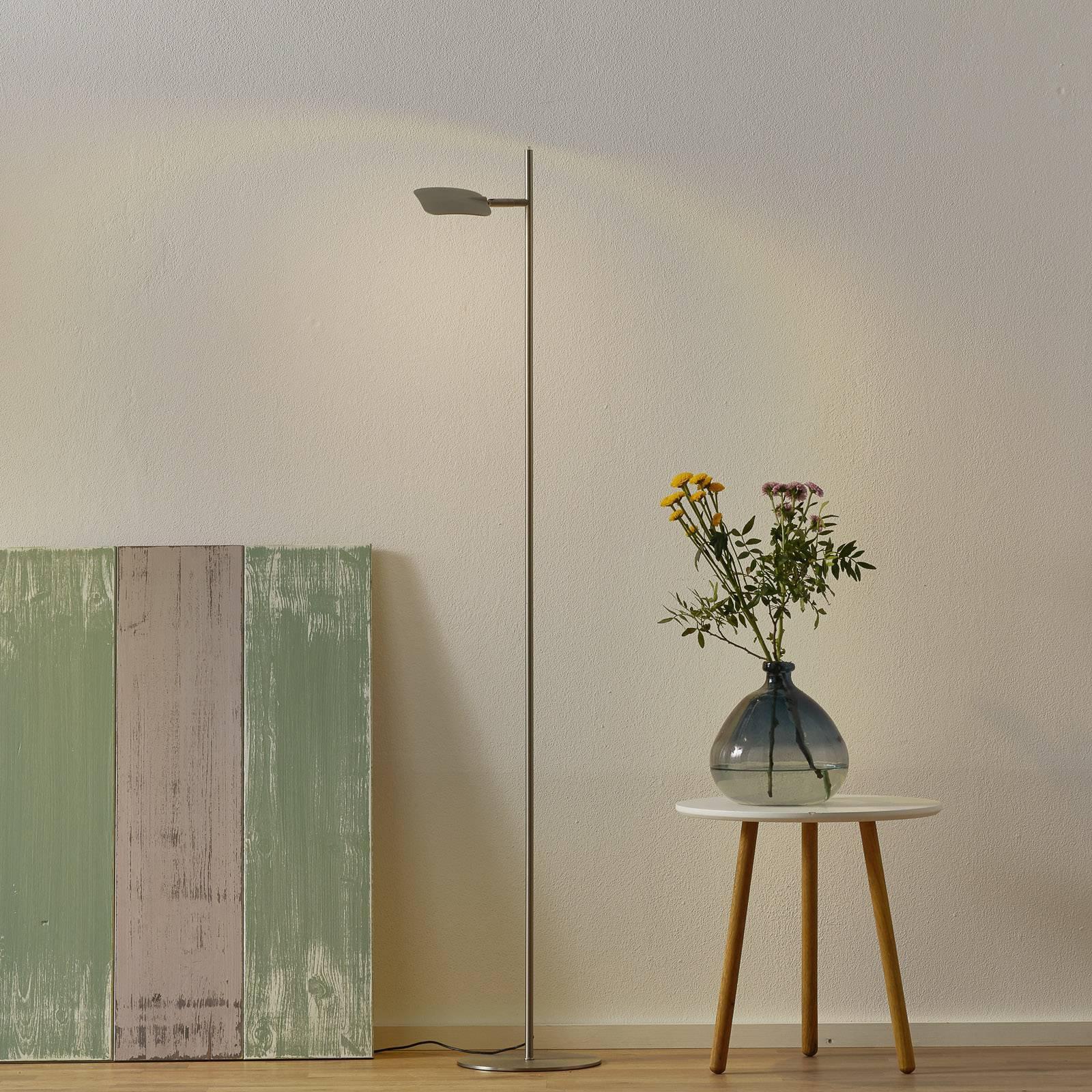 LED-gulvlampe Raggio, 1 lyskilde, stålfarget
