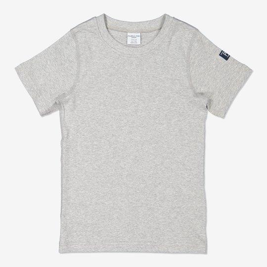 Ensfarget T-skjorte gråmelange
