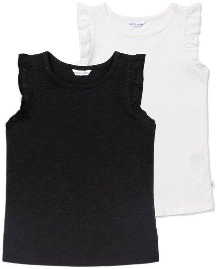 Luca & Lola Montena Topp 2-pack, Black/White 98-104
