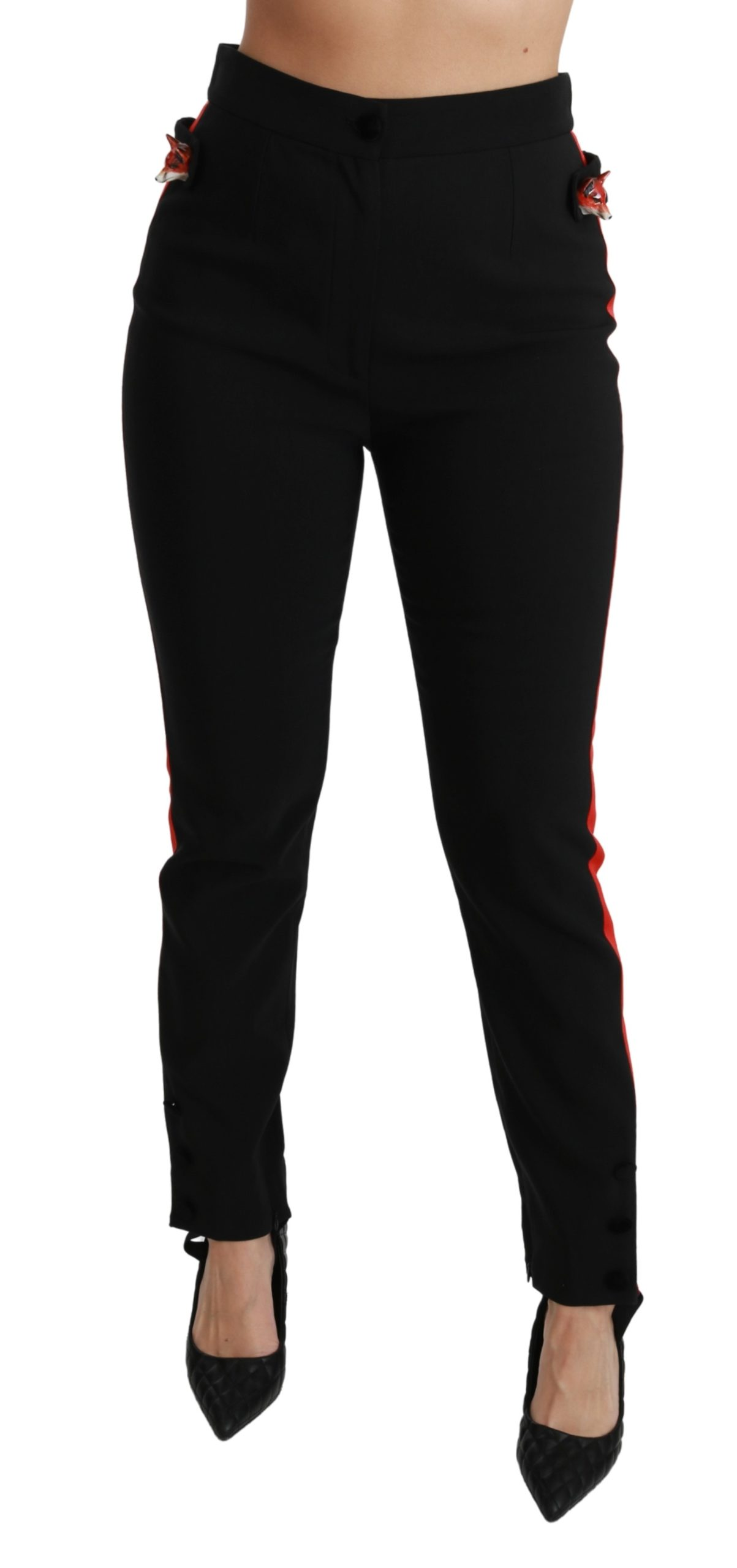 Dolce & Gabbana Women's Skinny Stretch Cotton Trouser Black PAN70926 - IT40 S