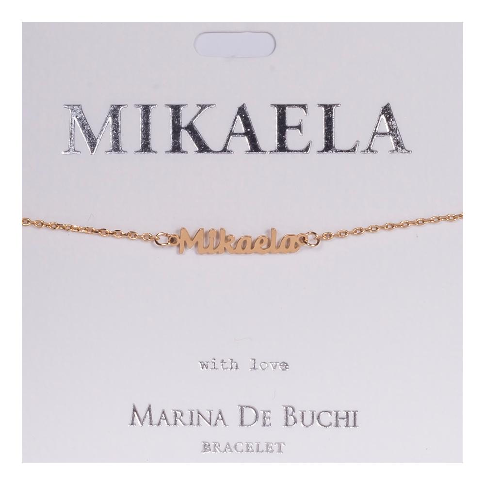 Namnarmband Guld - Mikaela