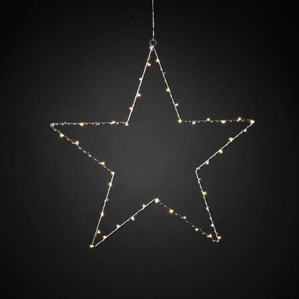 Konstsmide 1200-993 Joulutähti metalli – 45 cm