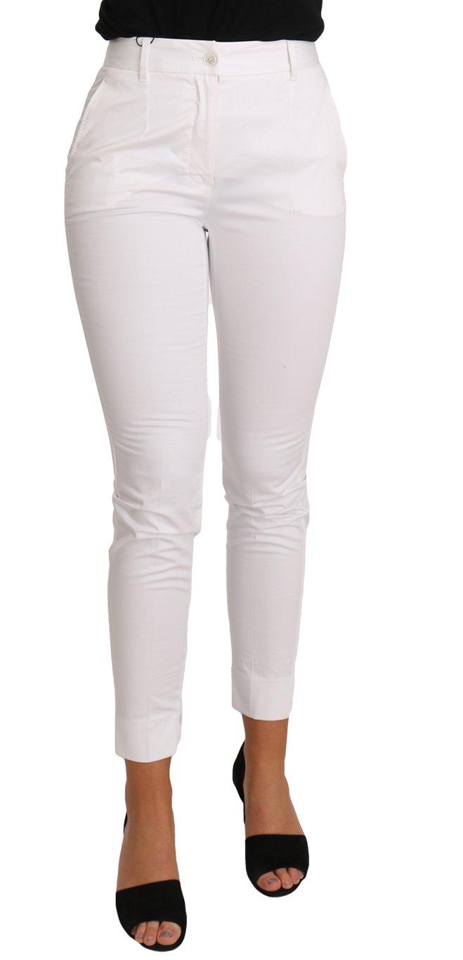 Dolce & Gabbana Women's Slim Skinny Trousers White PAN61078 - IT36 | XS