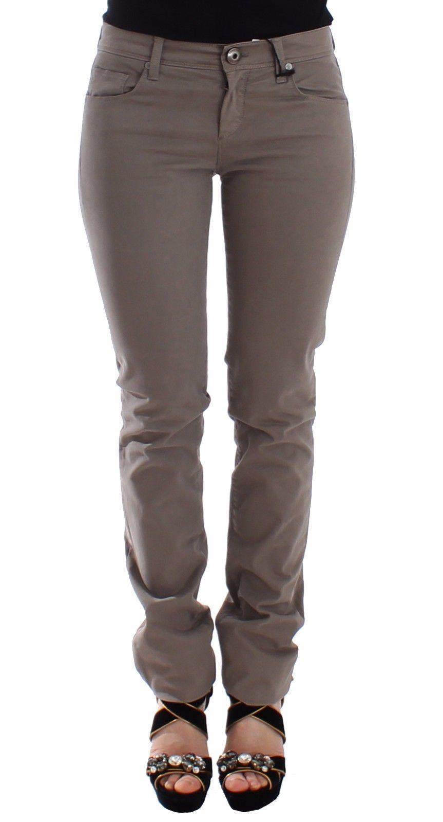 Ermanno Scervino Women's Slim Jeans Beige SIG12685 - IT40