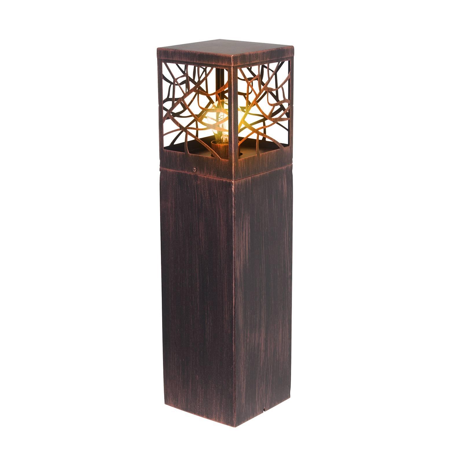 Pollarilamppu Whitney, ruosteenvärinen