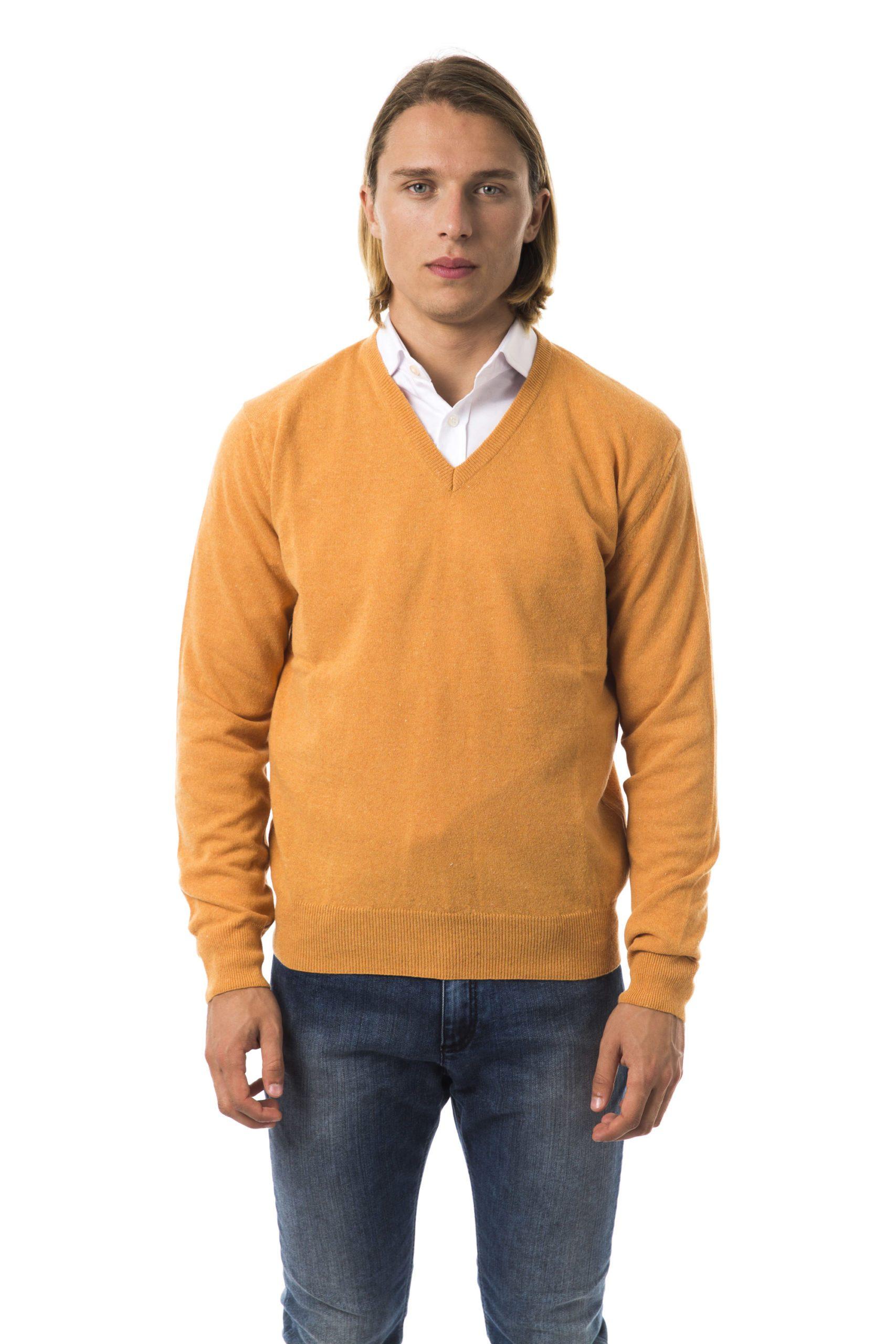 Uominitaliani Men's Albicocca Sweater Orange UO815742 - S