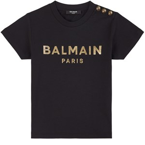 Balmain Logo T-shirt Svart 4 år