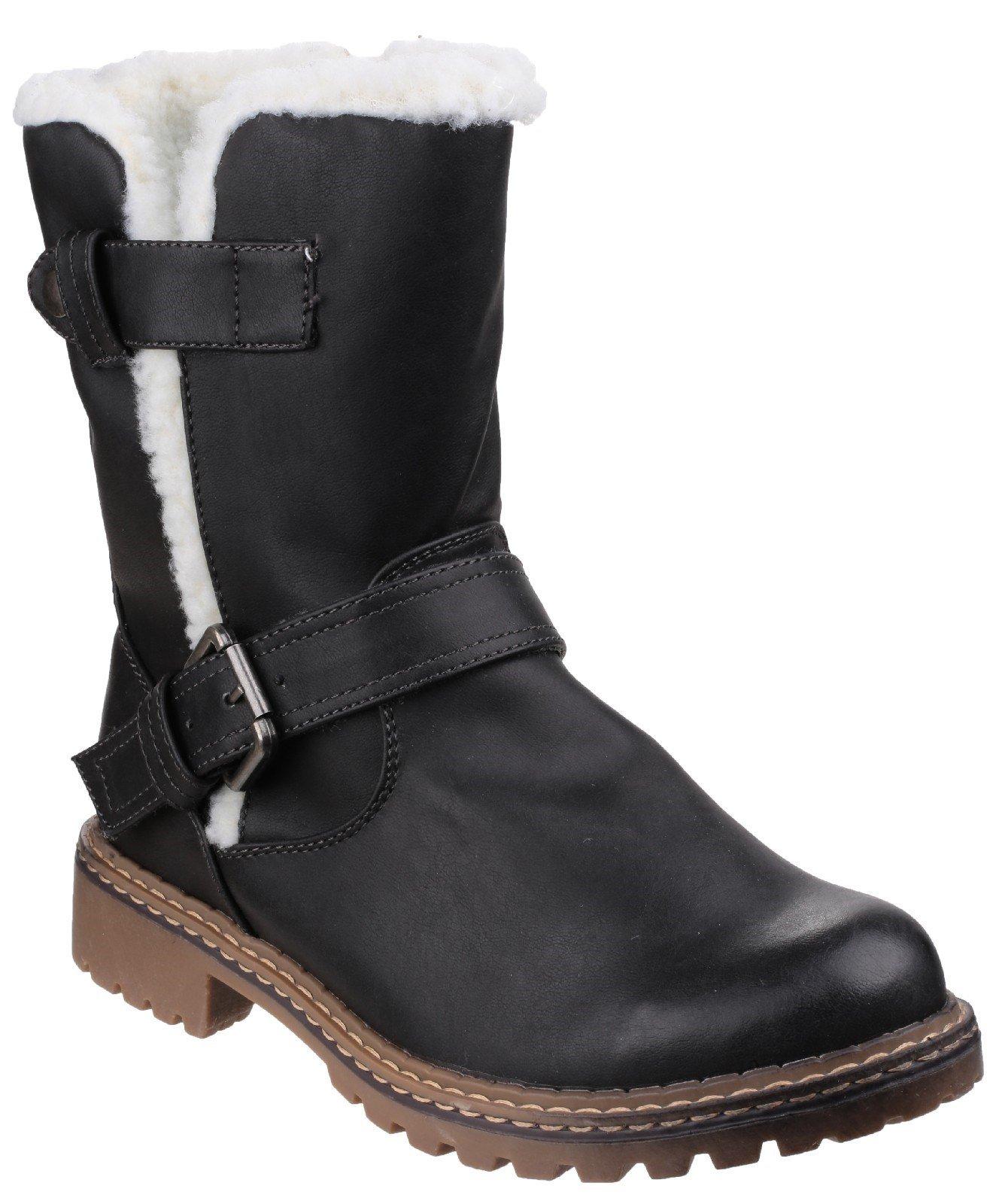 Divaz Women's Nardo Pull On Boot Black 22806-37230 - Black 3