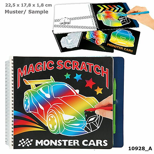 Monster Cars - Magic Scratch Book (0410928)