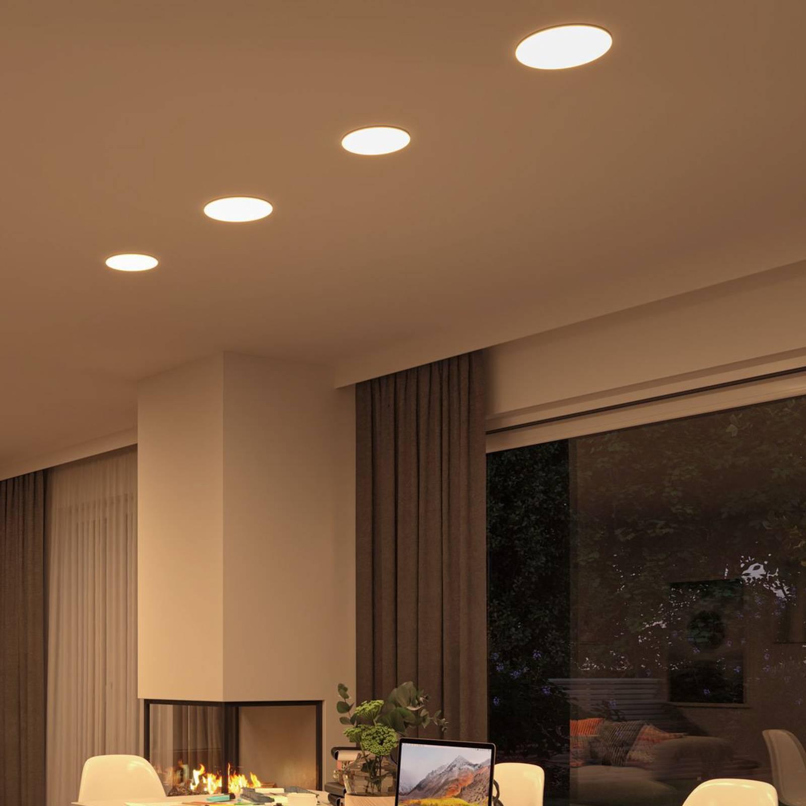 Paulmann-LED-paneeli Veluna, 3-Step CCT 21,5cm
