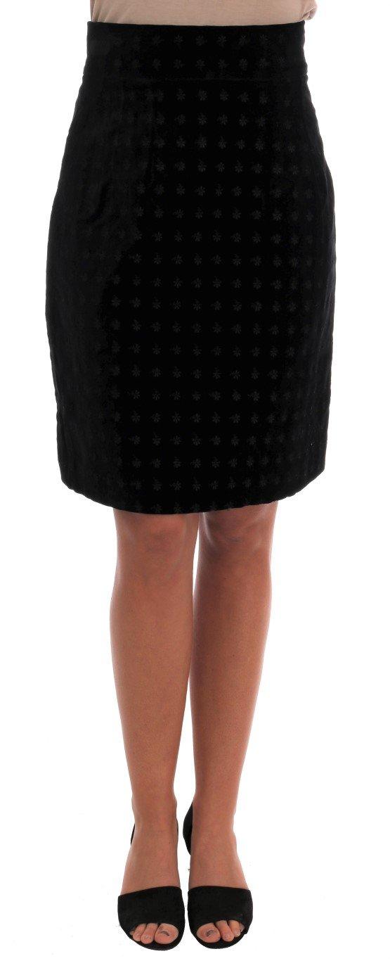 Dolce & Gabbana Women's Baroque Velvet Pencil Skirt Green SKI1088 - IT40|S