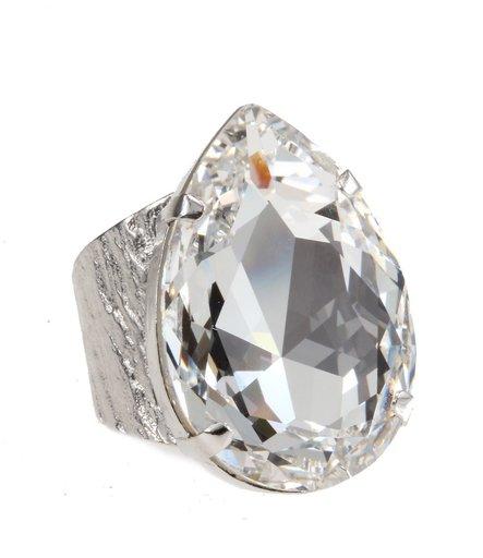 Ring med swarovskikristall