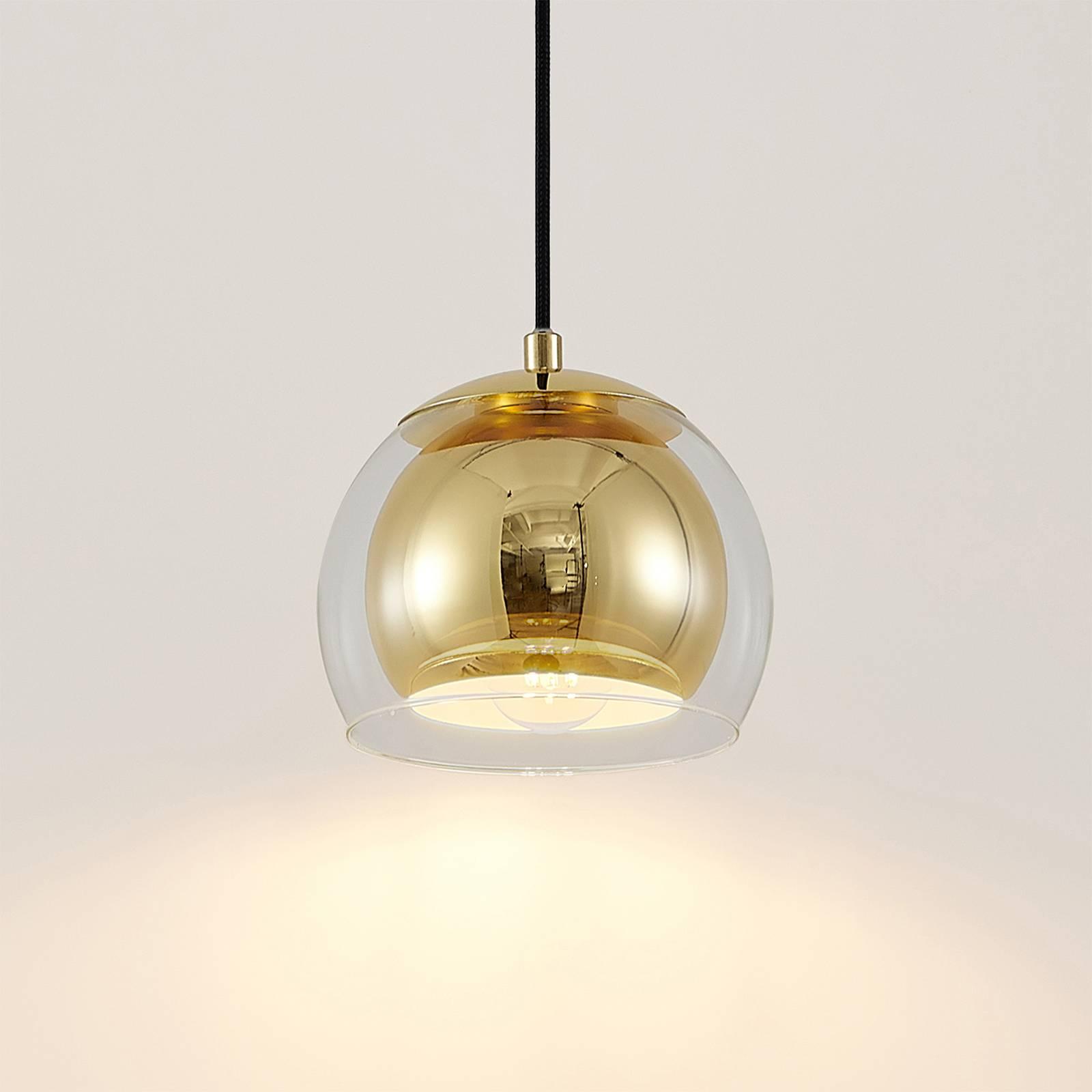 Lindby Daymien -riippuvalo yksilamppuinen messinki