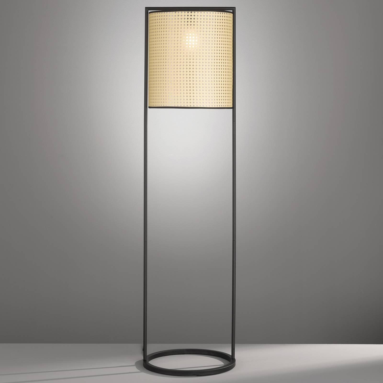 Gulvlampe Tyler med flettet utseende, høyde 150 cm