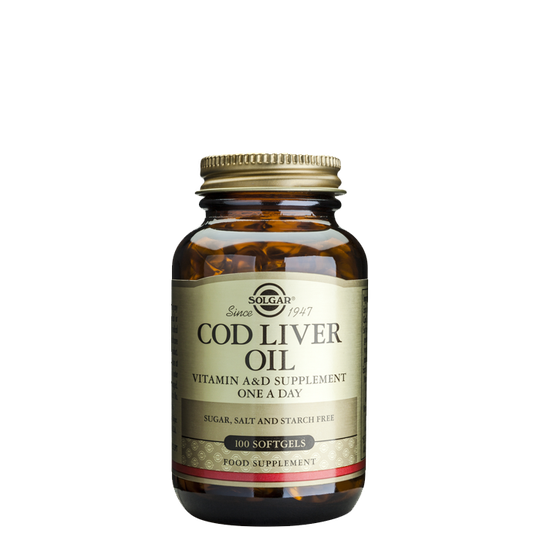 Cod Liver Oil (naturlig A- & D-vitamin), 100 softgel