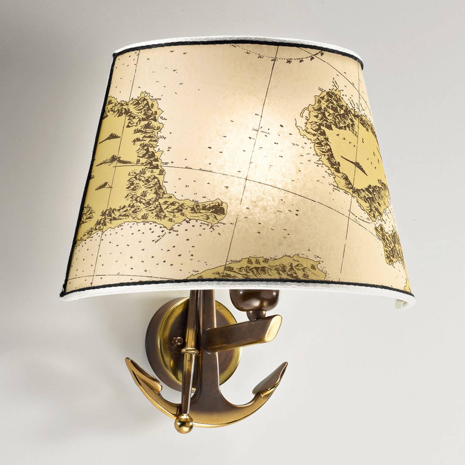 Nautica vegglampe med ett lys på 31 cm