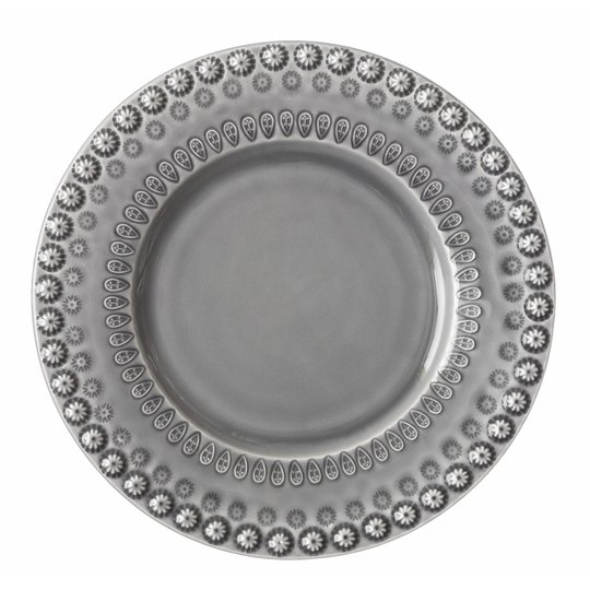 PotteryJo - Daisy Tallrik 22 cm Soft Grey