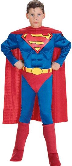 Superman Kostyme Med Muskler 3-4 år