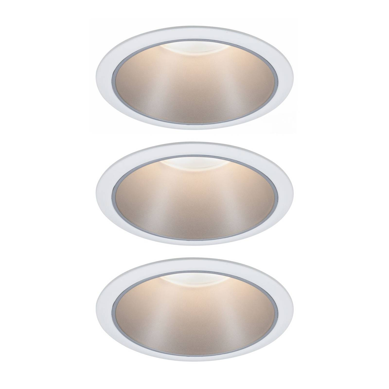 Paulmann Cole LED-Spotlight hopea-valkoinen 3 kpl