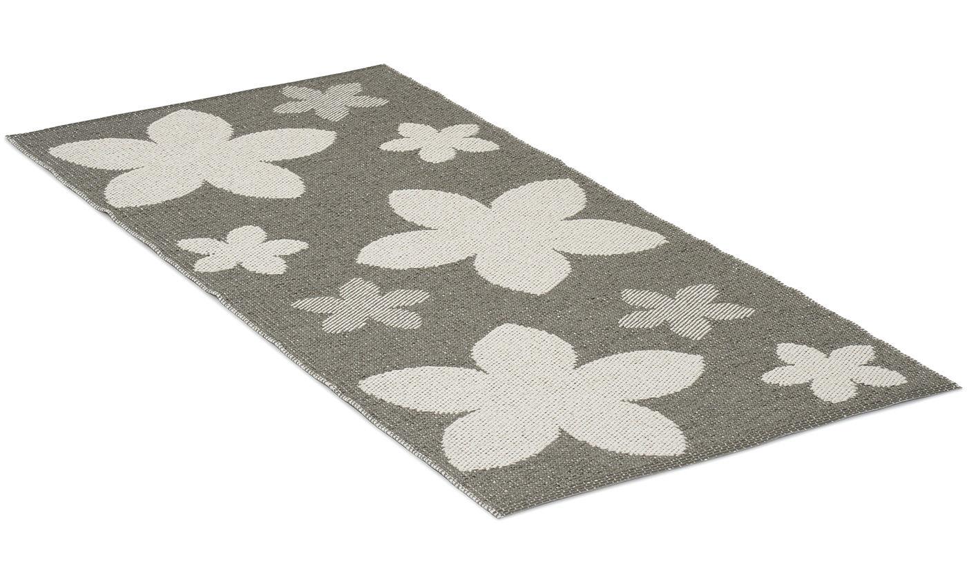 Flower grå - plastteppe