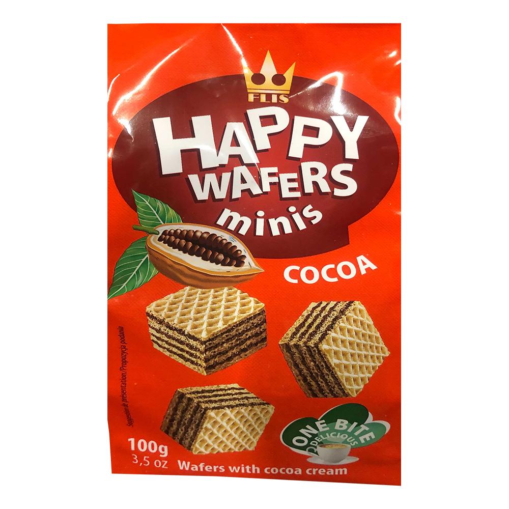Happy Wafers Minis Choklad - 100 gram