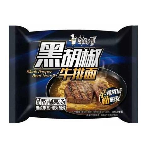 Kang Shi Fu Instant Noodle Black Pepper Beef Flavor 104g