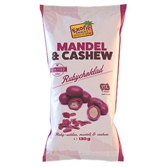 Rubychoklad Mandel & Cashewnötter - 60% rabatt