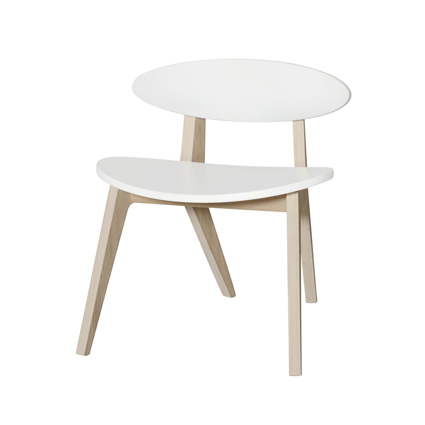 Barnstol PingPong Wood vit/ ek, Oliver Furniture