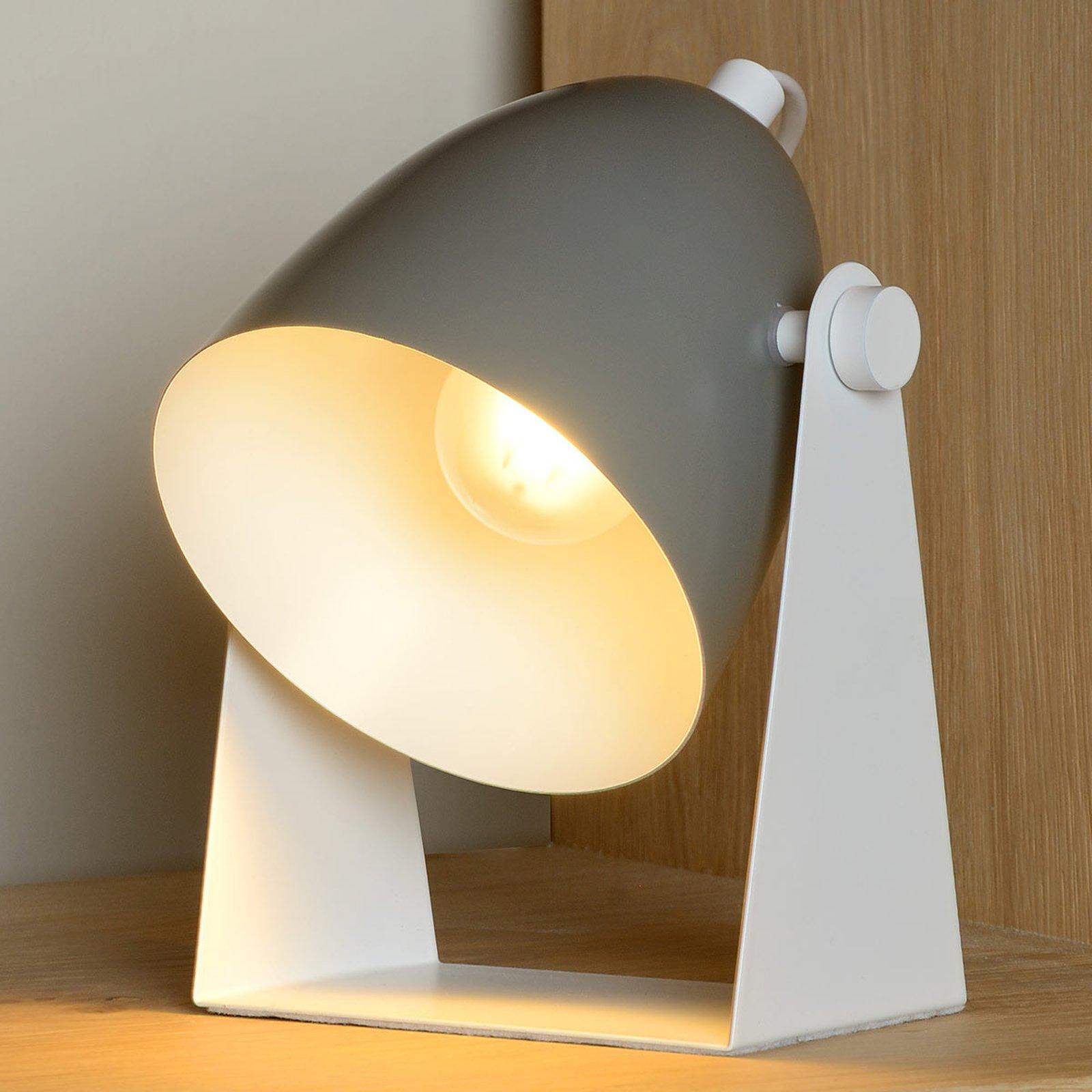 Bordlampe Chago i metall, grå