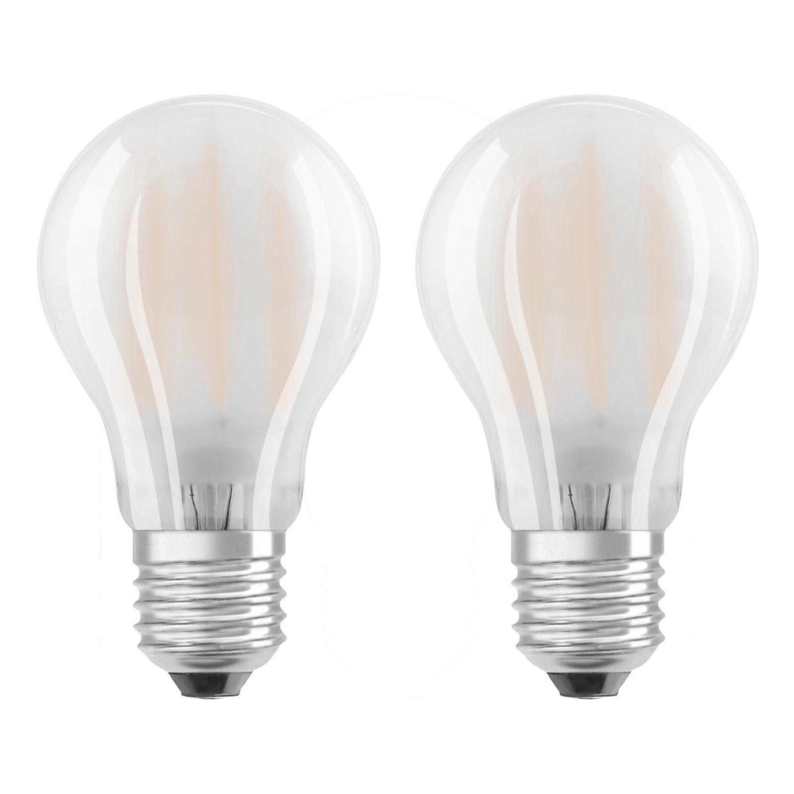 OSRAM-LED-lamppu E27 4W lämmin valkoinen 2 kpl