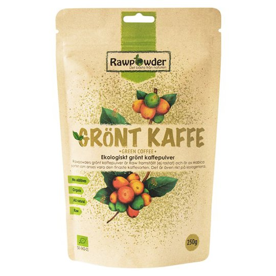 Rawpowder Ekologiskt Grönt Kaffepulver, 250 g