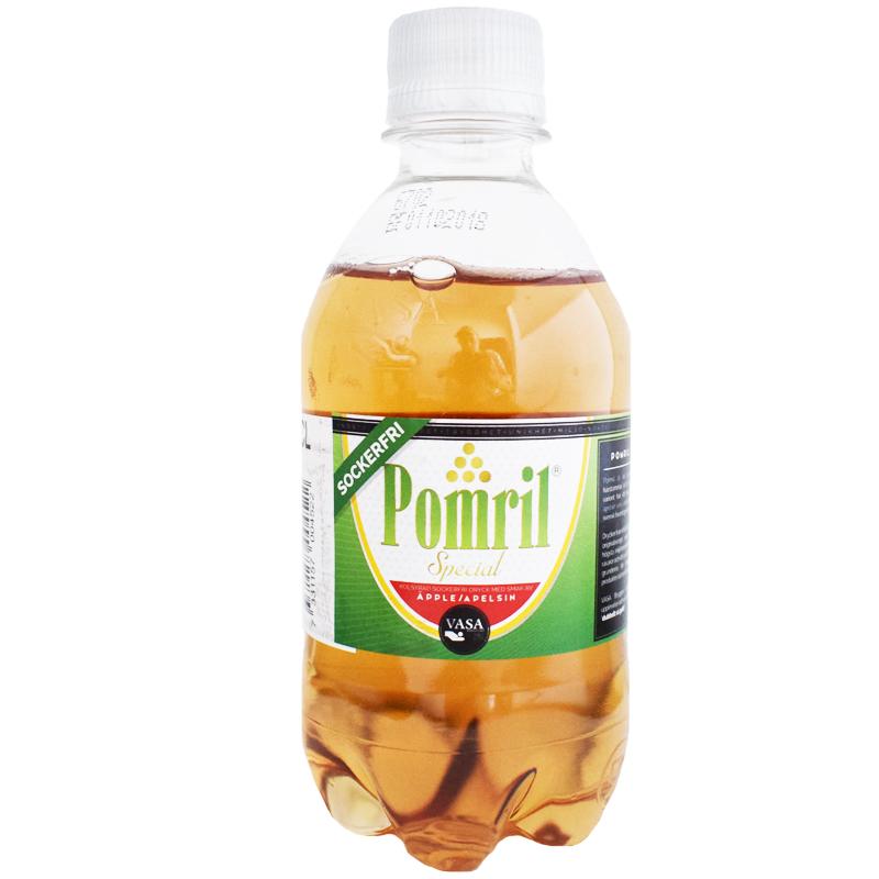 "Dryck ""Pomril"" Sockerfri 33cl - 21% rabatt"