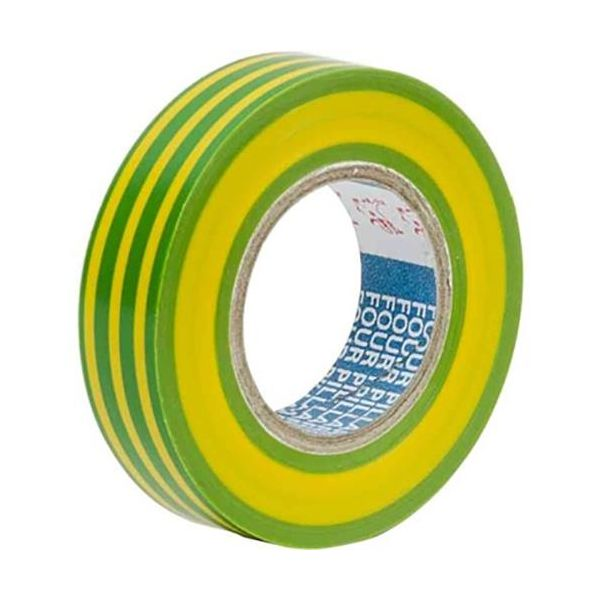Gelia 050000617 Merketeip 10 m x 15 mm Gul/grønn