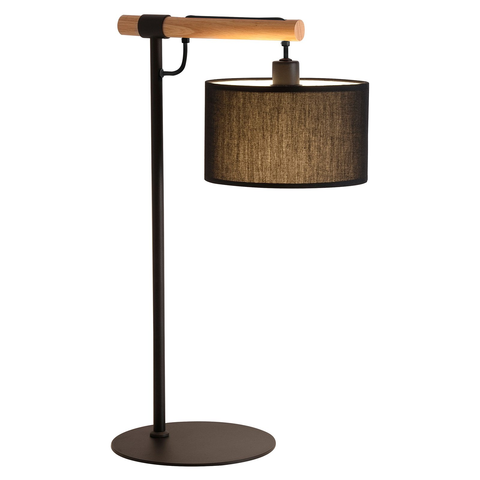 Bordlampe Romeo med tekstilskjerm, svart