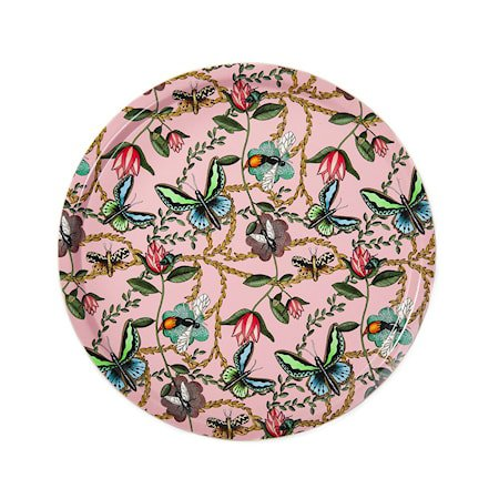 Nadja Wedin Design Brett 38 cm Bugs & Butterflies Rosa