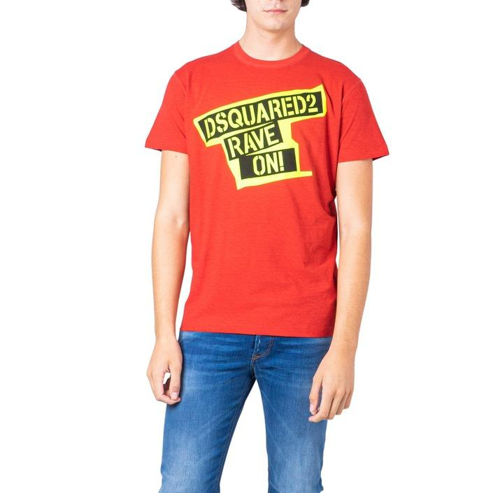 Dsquared Men's T-Shirt Red 181231 - red M