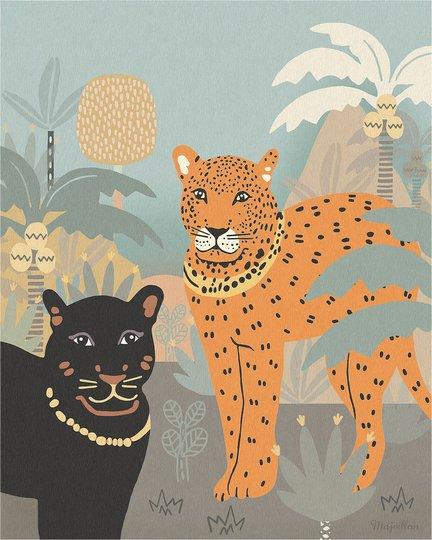 Majvillan Poster Black Panther 40x50