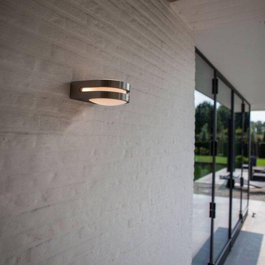 Fancy utendørs LED-vegglampe, rustfritt stål
