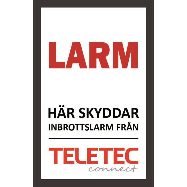 Teletec Connect 111851 Hälytyskyltti Itsekiinnittyvä 47 x 73 mm