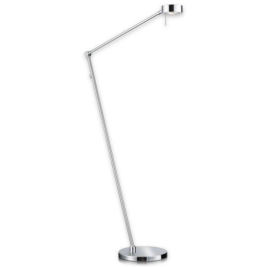 Kapea LED-lattiavalaisin Elegance, kromi