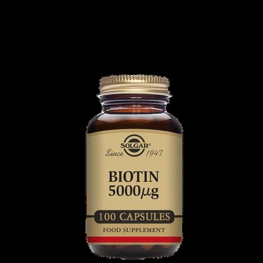 Biotin 5000 mcg, 100 kapslar