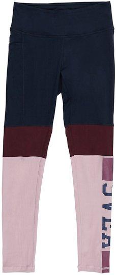 Svea Tights Color Block, Navy 150