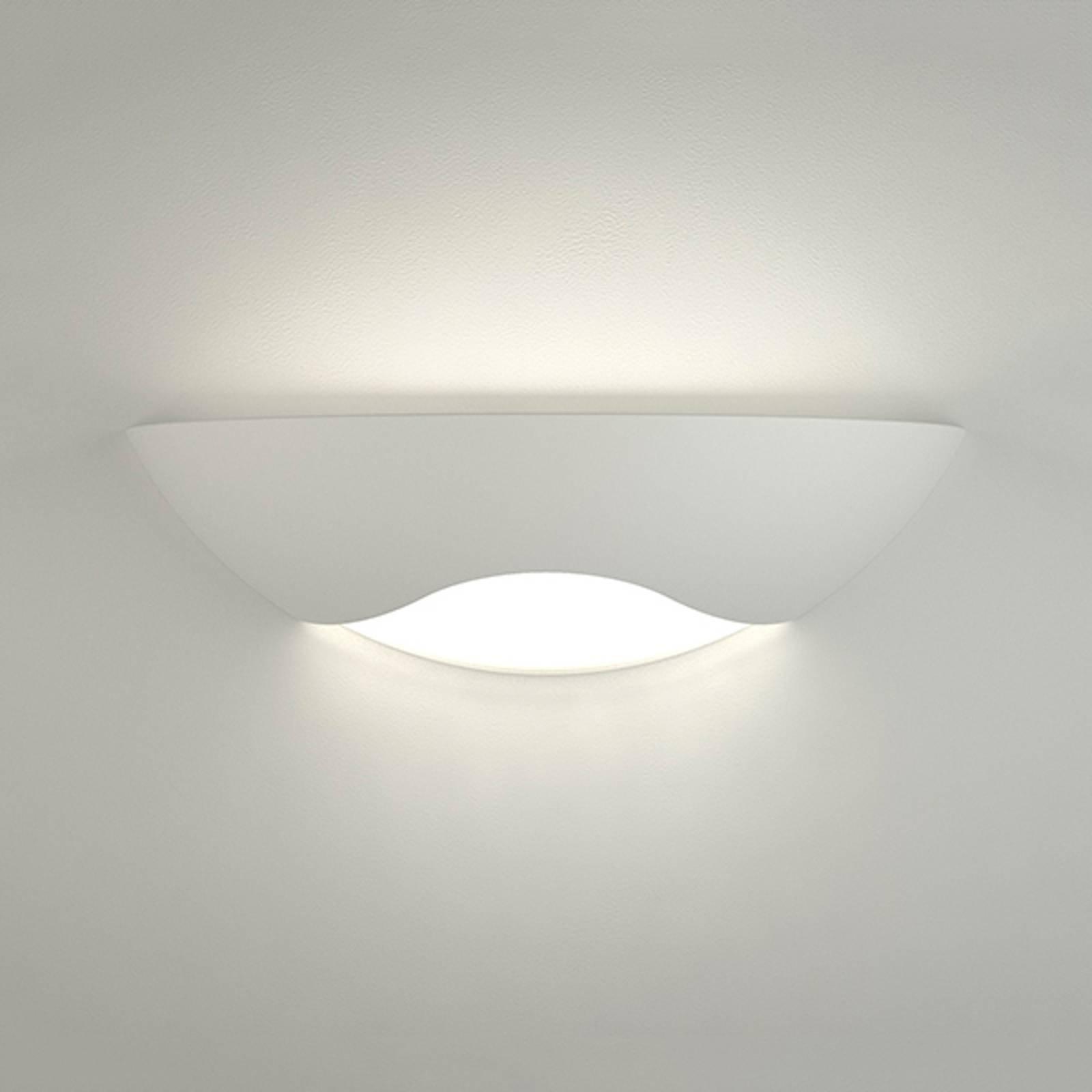 Velformet LED-vegglampe Ambra i keramikk