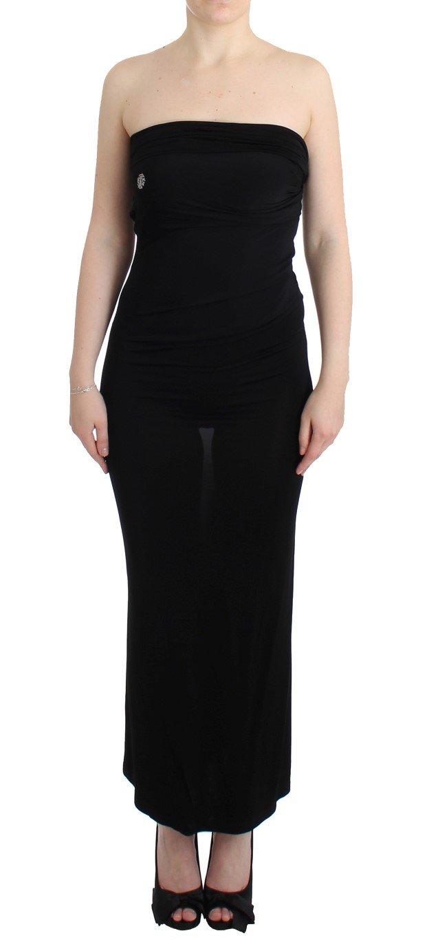 Cavalli Women's Maxi Dress Black SIG11815 - IT44 L