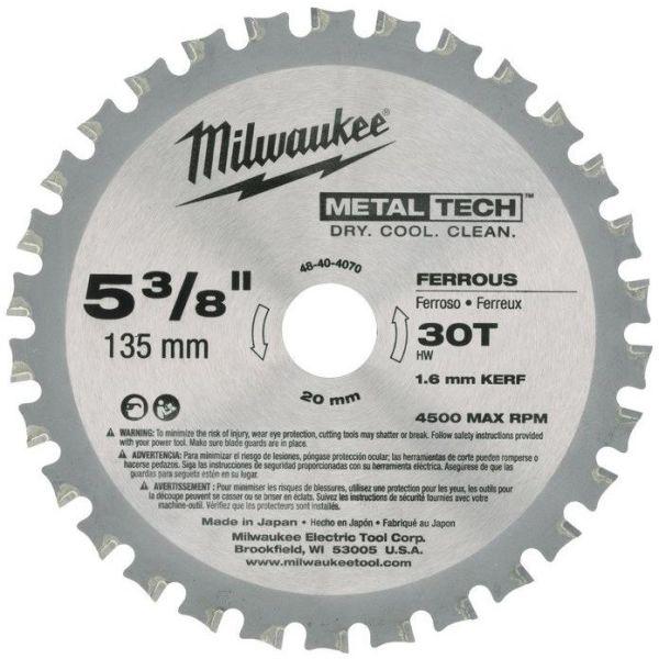 Milwaukee 48404070 Sahanterä 135x20mm, 30T