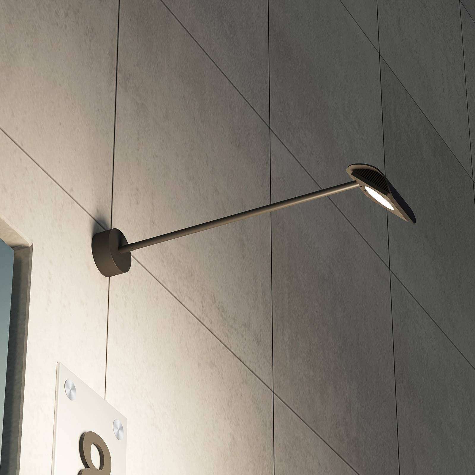 Arcchio Grayson -LED-ulkoseinälamppu, antrasiitti