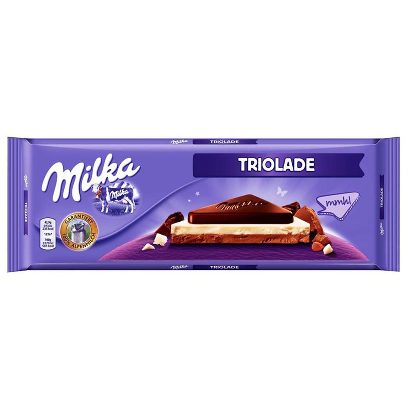 """Mjölkchokladkaka """"Triolade"""" 300g - 44% rabatt"""
