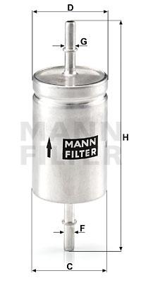 Polttoainesuodatin MANN-FILTER WK 512