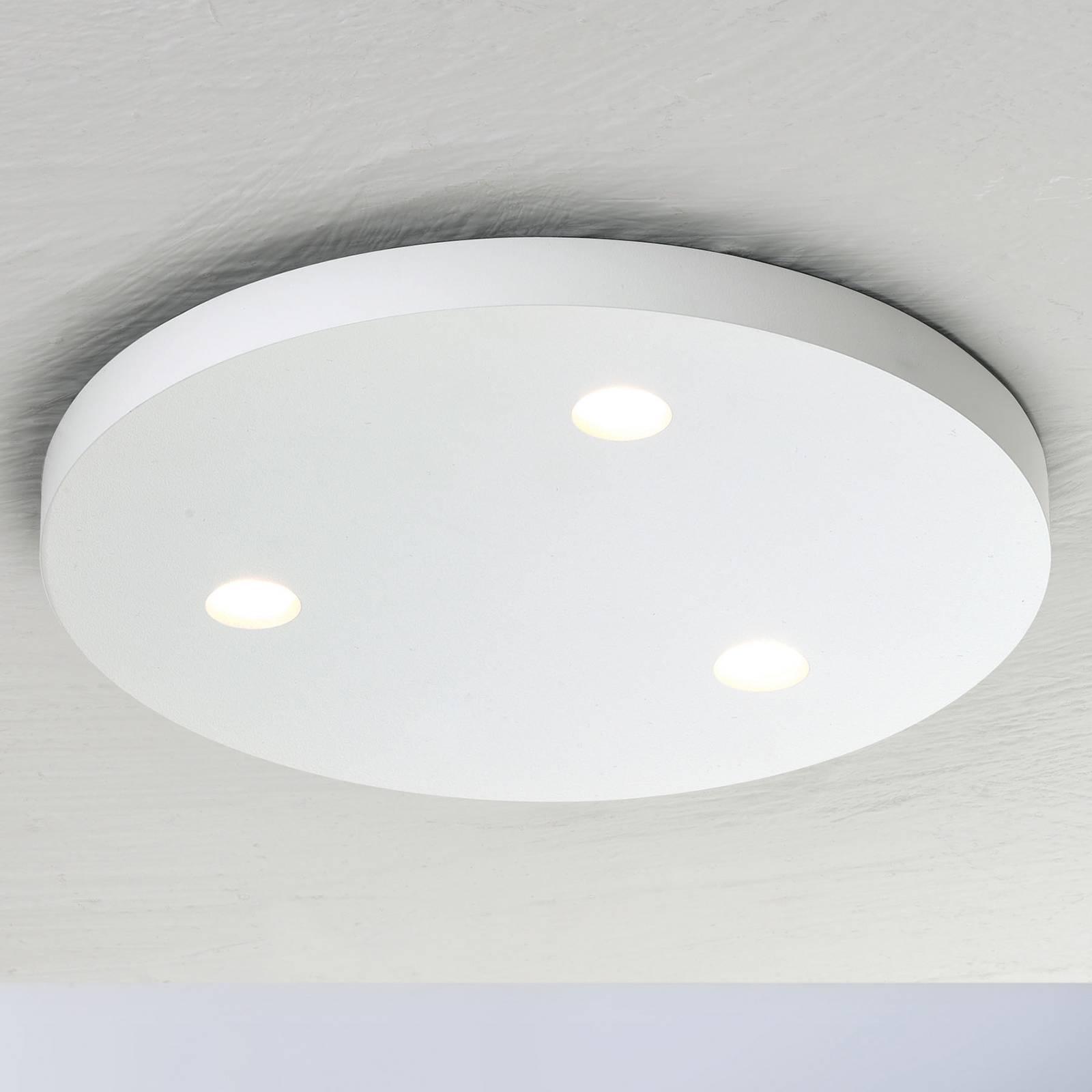 Bopp Close LED-kattovalaisin, 3-lamp, pyöreä valk.