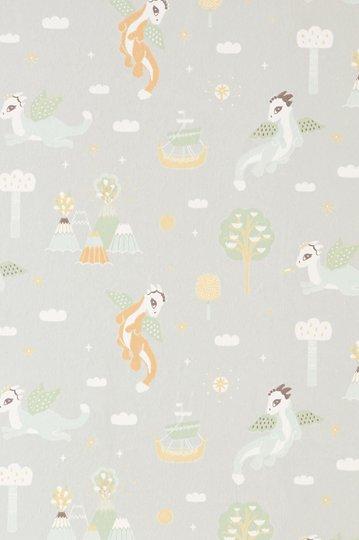 Majvillan Tapet Magical Adventure, Soft Grey